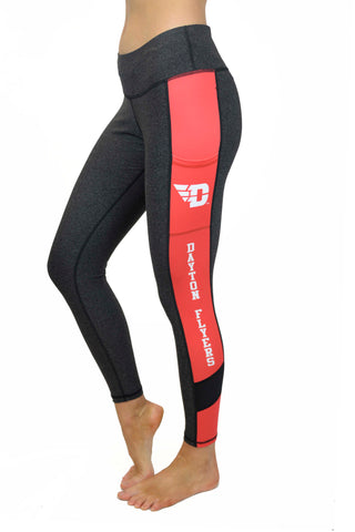 The University of Dayton Cell Phone Pocket Legging/Onyx