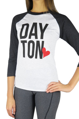 The Dayton Love Baseball Tee/White & Black
