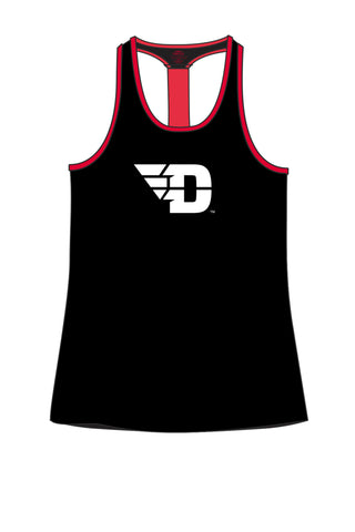 The University of Dayton T-Back Tank/Black