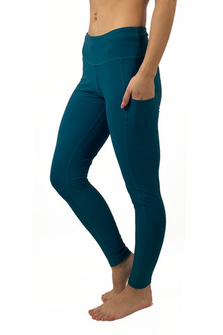 "3004- The ""Victory"" Cell Phone Pocket Legging/ Emerald Green"