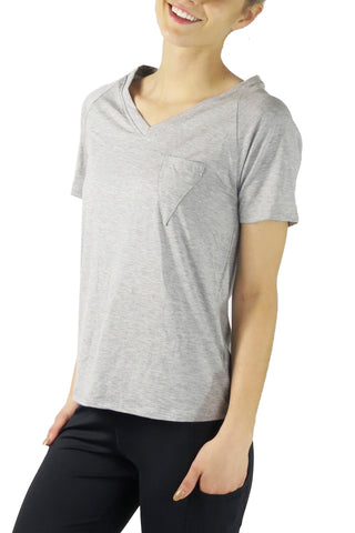 Diva V Pocket Short Sleeve Tee/Grey