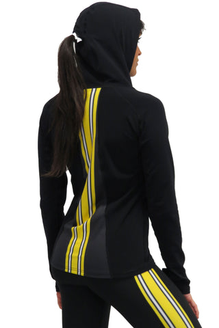 Iowa Hawkeye Pony Tail Performance Hoodie/Black