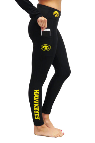 "The University of Iowa ""Victory"" Cell Phone Pocket Legging/Black"