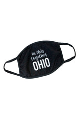 """In This Together Ohio"" QUILTED Face Covering"