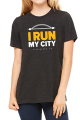 "Pittsburgh ""I Run My City"" Unisex Triblend Short Sleeve Tee/Black- FINAL SALE"