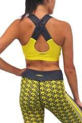The Game Day Iowa Hawkeye Criss Cross Bra/Gold