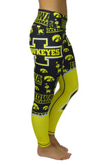 "The ""Fanatics"" Hawkeye Legging/Black & Gold"