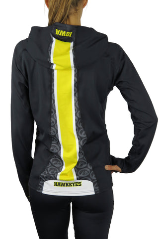 The University of Iowa Pony Tail Performance Hoodie/Black