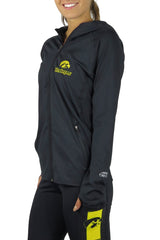 IA-6006- The University of Iowa Pony Tail Performance Hoodie/Black