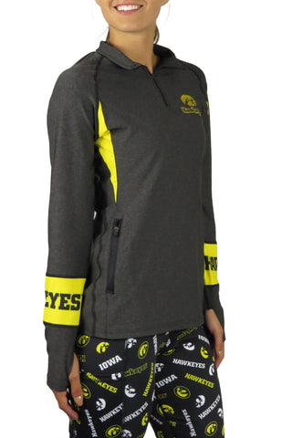 The University of Iowa 1/4 Zip Gameday Pullover/Onyx