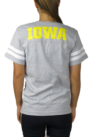 Iowa Hawkeye Jersey Tee/Grey