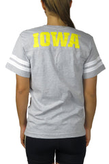IA-6008- Iowa Hawkeye Jersey Tee/Grey