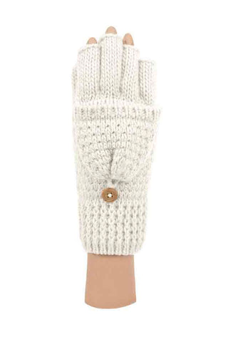 Textured Knit Convertible Fingerless Gloves (Multiple Colors)
