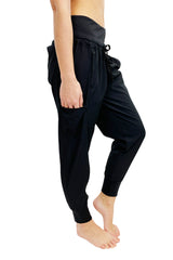 "4034 - NEW! The ""Morgan"" Triple-Pocket Athleisure Jogger/ Black"