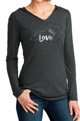 "The ""Kentucky Love"" Unisex Triblend Hoodie/Charcoal"