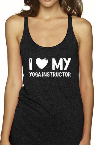 "CL-8 ""I Love My Yoga Instructor"" Racerback Tank- FINAL SALE"