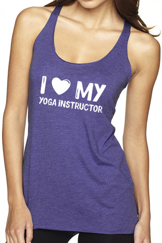 """I Love My Yoga Instructor"" Racerback Tank- FINAL SALE"