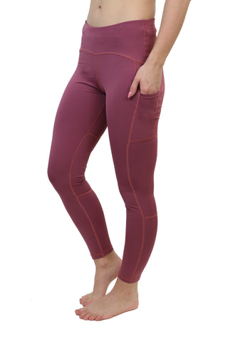 "3023 - The ""Victory"" Cell Phone Pocket Legging/ Mauve"