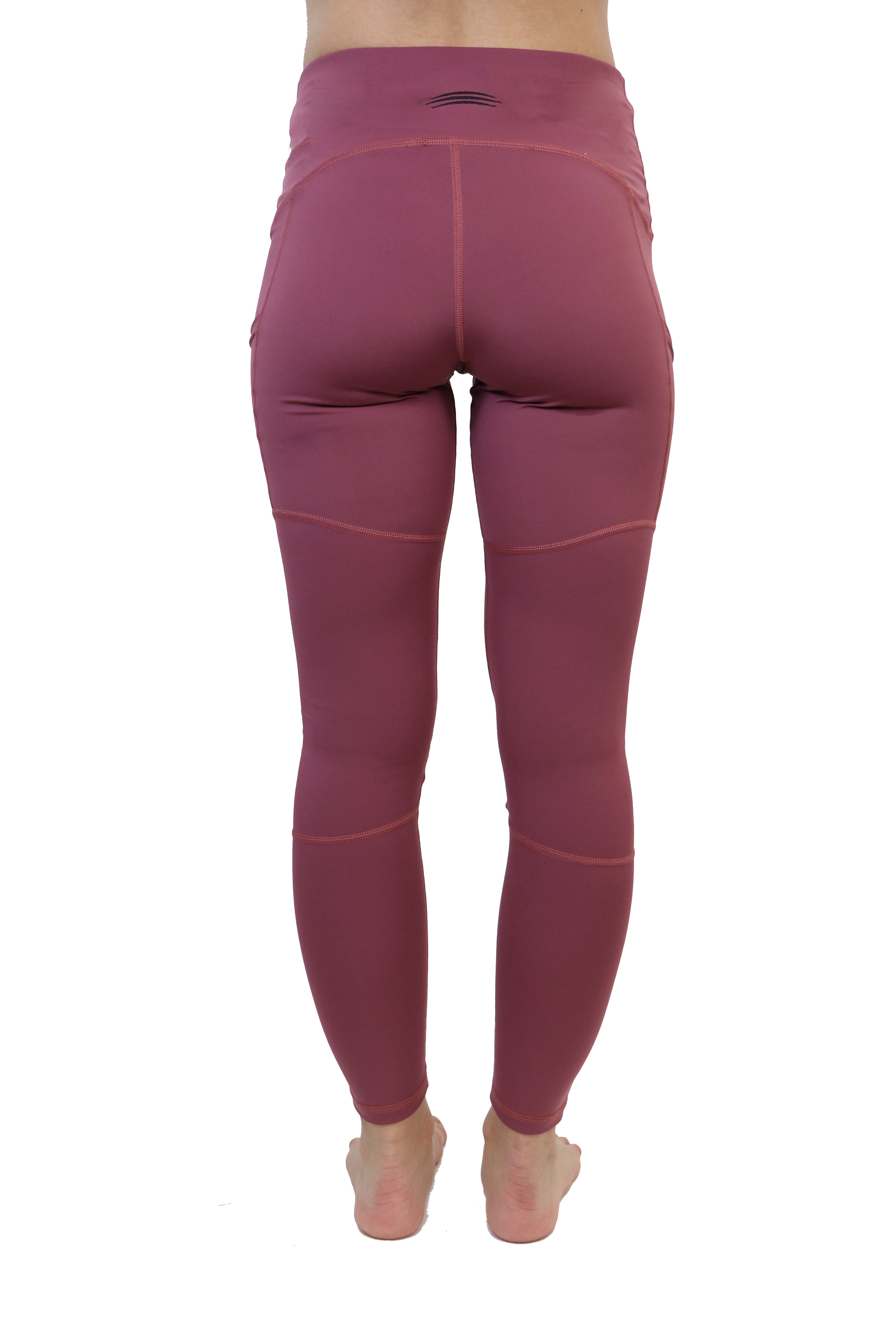 "3021- The ""Victory"" Cell Phone Pocket Legging/ Mauve"