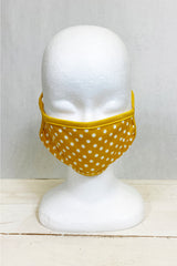Mustard Polka Dot Quilted Face Covering