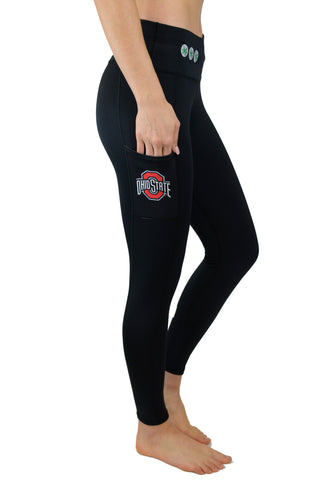 "The Ohio State University ""Victory"" Cell Phone Pocket Legging/Black"