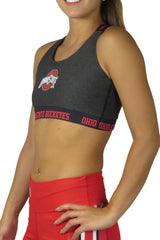 The Ohio State Buckeye Sports Bra/Onyx