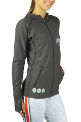 "OSU-900 - The ""Block O"" Pony Tail Performance Hoodie/Onyx"