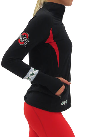 The Ohio State University Full Zip LUXE Gameday Pullover/Black