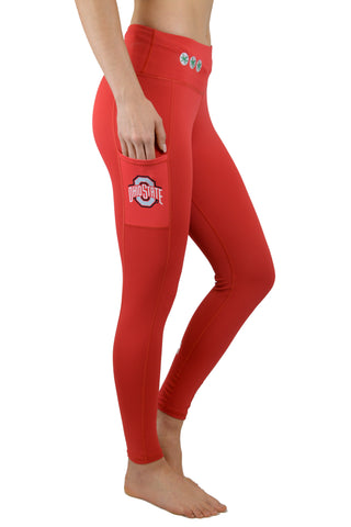 "OSU-2001 - The Ohio State University ""Victory"" Cell Phone Pocket Legging/Red"