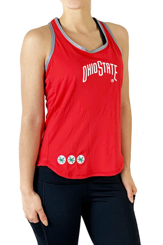 The Ohio State University T-Back Tank/Red