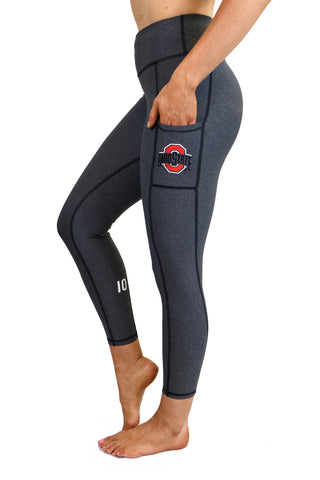 "The Ohio State University ""Victory"" Cell Phone Pocket Legging/Charcoal"