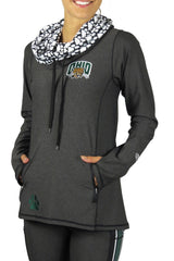 The Ohio University Funnel Neck Long Sleeve/Onyx