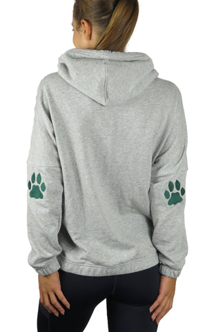 """Ohio University Bobcats"" Patchwork Snorkel Neck Hoodie/Heather Grey"