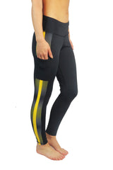 The Overdrive Victory Legging/Black & Gold