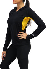 Pittsburgh Performance FULL ZIP Pony Tail Hoodie/Black