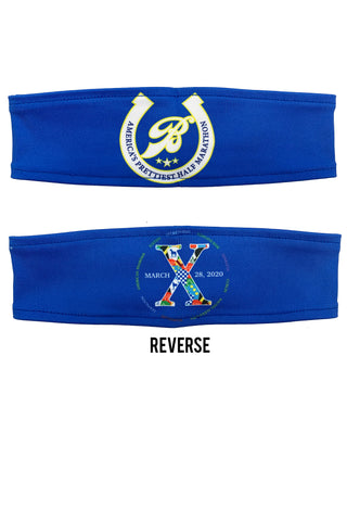 "REVERSIBLE RunTheBluegrass ""America's Prettiest Half Marathon"" Headband/Royal"