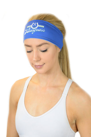 REVERSIBLE RunTheBluegrass X Headband/White