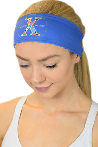 REVERSIBLE RunTheBluegrass X Headband/Royal