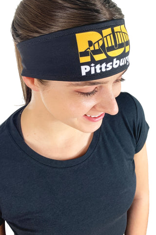 REVERSIBLE Run Pittsburgh Headband/Black & Gold