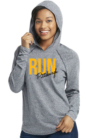 Pittsburgh Run Unisex Hoodie/Heather Grey