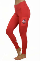 "The Ohio State University ""Victory"" Cell Phone Pocket Legging/Red"