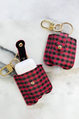 Hand Sanitizer & Air Pod Key Chain