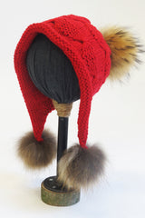 Knit Double Pom Eskimo Hat