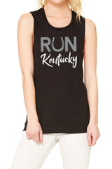 "The ""Run Kentucky"" Muscle Tank/Black"