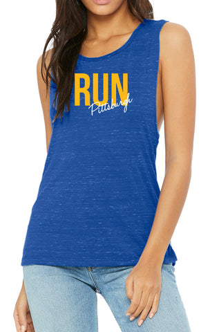 """Run Pittsburgh"" Muscle Tank/Royal"