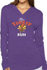 """Run Turkey Run"" Unisex Hoodie/Purple- FINAL SALE"