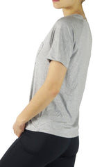 3029TEE- Diva V Pocket Short Sleeve Tee/Grey-FINAL SALE