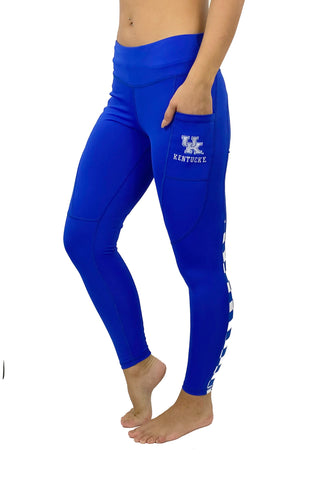 "University of Kentucky ""Victory"" Cell Phone Pocket Legging/Blue"