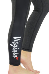 """Virginia Love"" Victory Cell Phone Pocket Legging/Onyx Black"