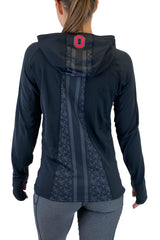 "OSU-2024 - The Ohio State University ""Vision"" Pony Tail Performance Hoodie/Black"